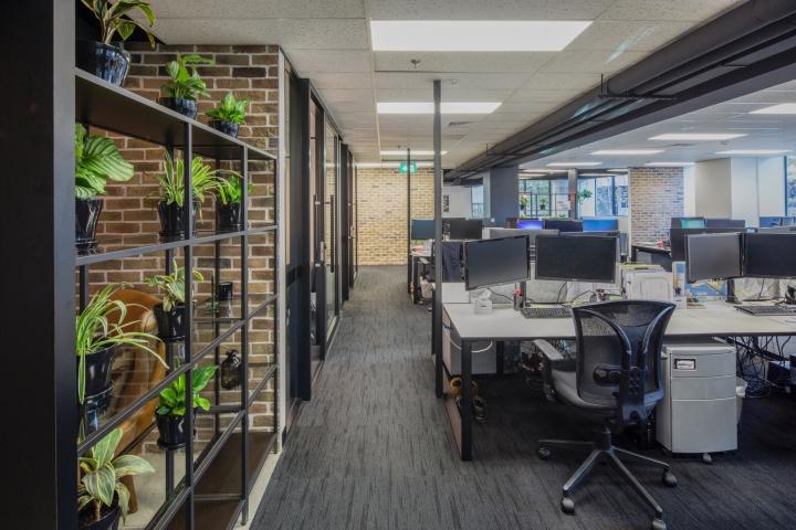 Создание интерьера офиса: стеллаж с растениями