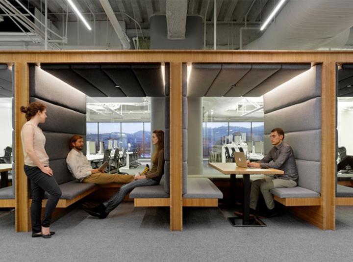 Интерьер представительства японской фирмы Square в Калифорнии