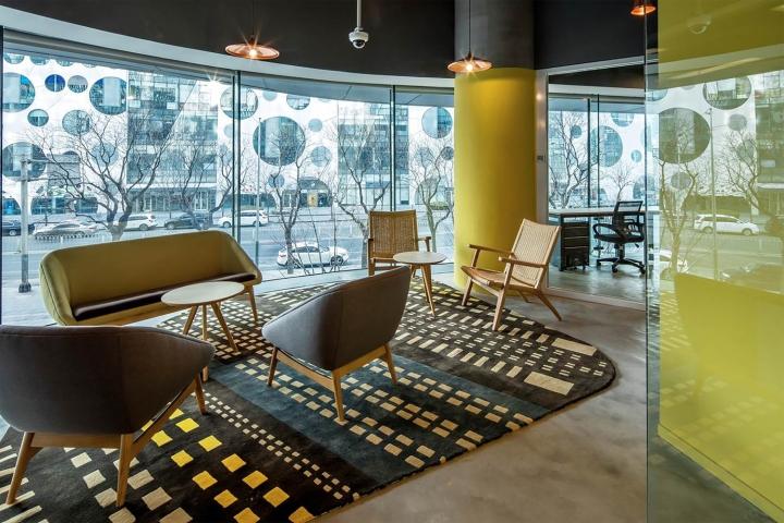 Жёлтый цвет в оформлении офиса