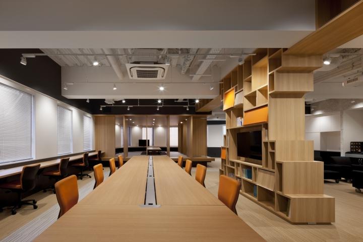 Стильный интерьер современного японского офиса в Токио: необычный интерьер