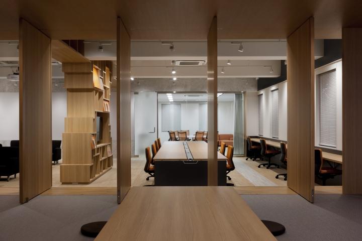 Стильный интерьер современного японского офиса в Токио: котацу