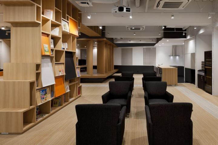 Стильный интерьер современного японского офиса в Токио: диваны