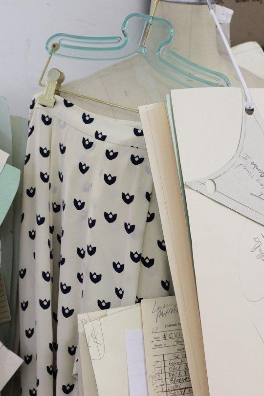Студия дизайна одежды: соседство документов и моделей