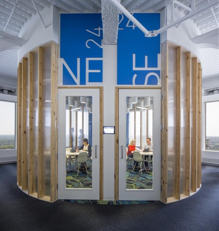 Современный светлый офис в Атланте, Джорджия, США: комната отдыха