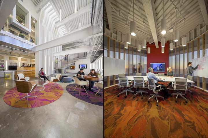 Современный светлый офис в Атланте, Джорджия, США. Фото 1