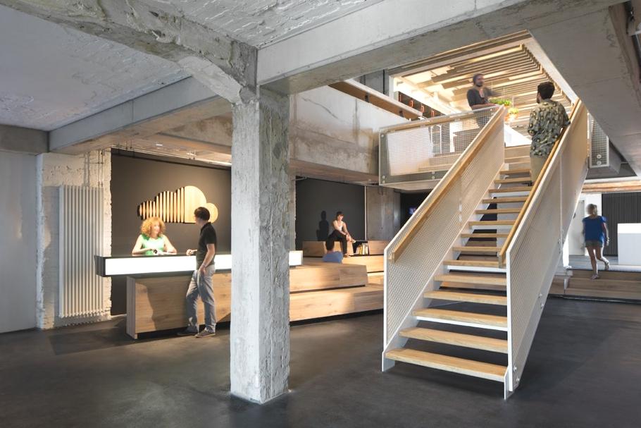Ресепшн офиса компании SoundCloud в Берлине