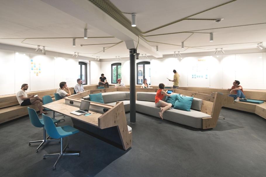 Офис SoundCloud в стиле лофт