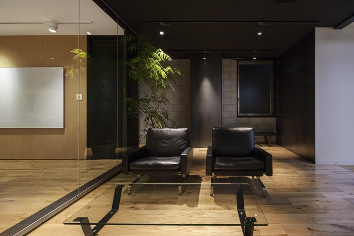 Чёрный цвет в интерьере офиса