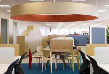 Яркие цвета в интерьере офиса в Японии
