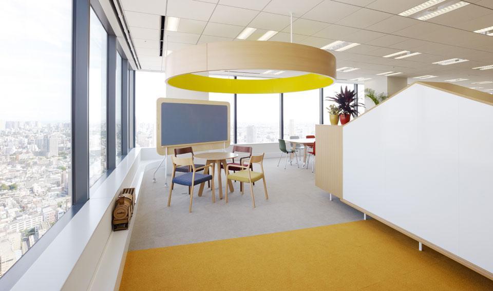 Цвета в интерьере офиса: разделение на отделы
