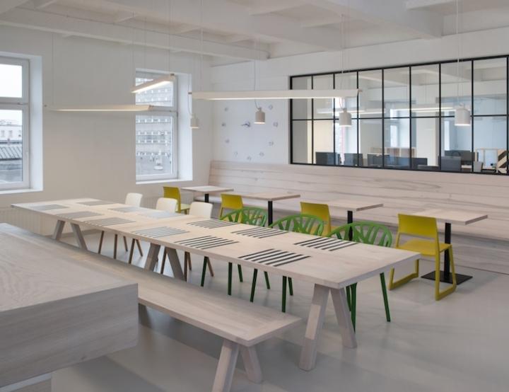 Дизайн интерьера современного офиса u2i в Кракове