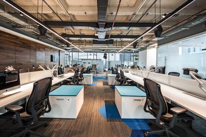 Удобный интерьер офиса EA Games - общий вид