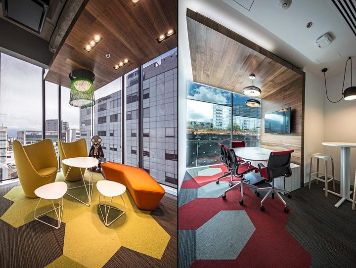 Удобный интерьер офиса EA Games - яркие цвета