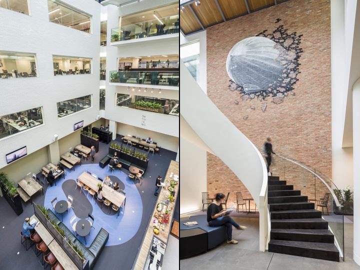 Многоэтажный офис музыкальной компании