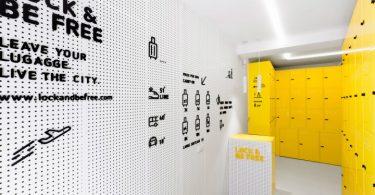 Яркий дизайн интерьера: камера хранения в Мадриде