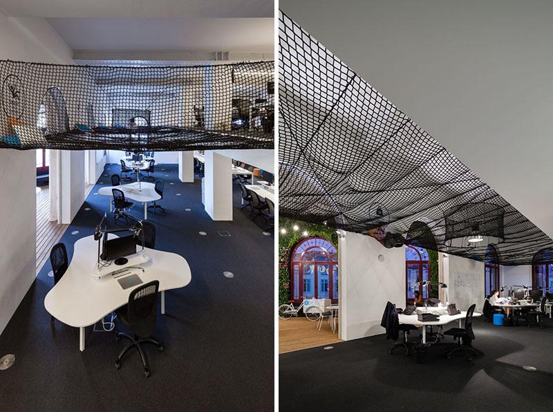 Яркий интерьер офиса: оригинальные столы
