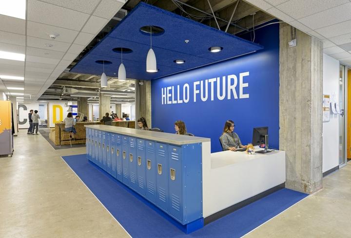 Яркий интерьер офиса Stafford House - открытое пространство