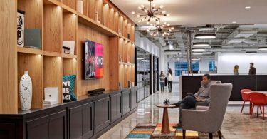 Яркий дизайн офиса в бостоне