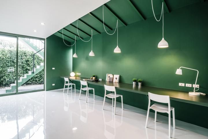 Зелёный цвет в интерьере офиса компании Green 26