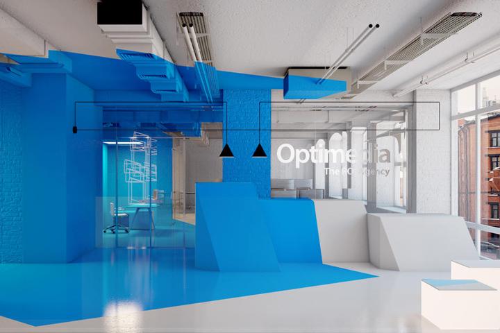 Интерьер офиса компании Zenith Optimedia в Москве